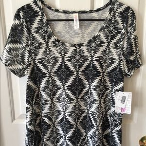 LuLaRoe Classic in black and white Aztec pattern